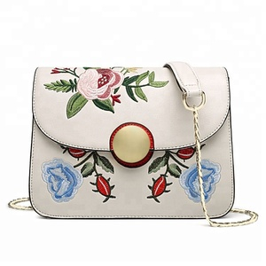 Pu Leather Handbags For Women Embroidery Shoulder Bags