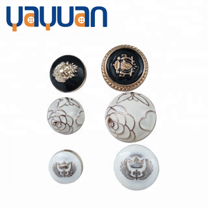 High-end electroplating custom metal handle shirt button embossed