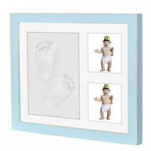 2018 High Quality Baby Footprint Handprint Frame Baby Foot Prints Photo Frame