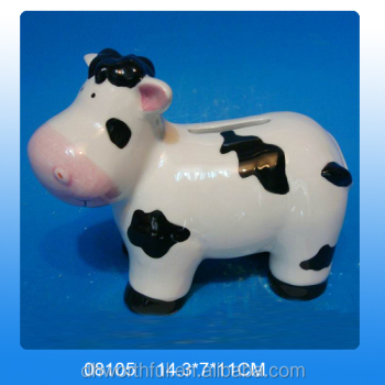 Wholesale cow design ceramic decorative piggy banks for Decorative piggy banks for adults