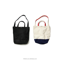 Cheap Button Canvas material shopping bags Wholesale