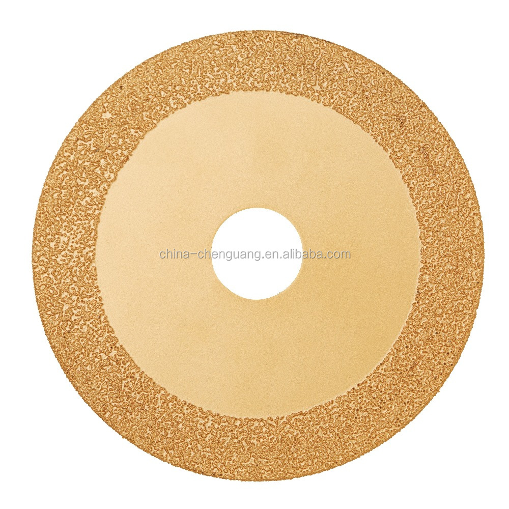 Vacuum brazed diamond saw blades for cutting cast iron parts and metal