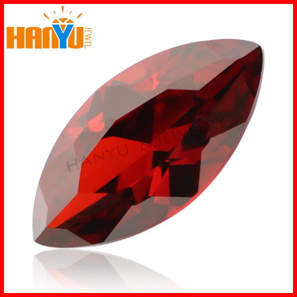 Marquise cut cz loose gemstone synthetic diamond cz stone red diamond beads