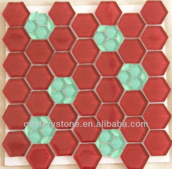 Bathroom And Kitchen Tile Design Hexagon Free Mosaic Flower Patterns Wall Tiles Red Gl