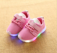 Children Sneakers LED Lighting Casual Shoes Lace Up Glowing Kids Baby LED Shoes