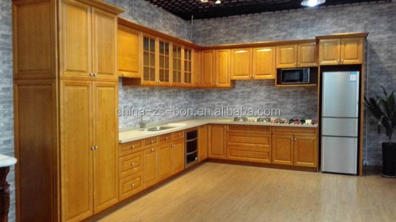 Russian maple solid wood kitchen cabinets with sink buy for Cheap kitchen cupboard carcasses