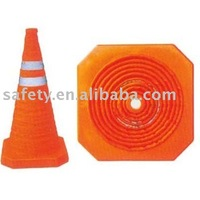 Folding Road Traffic Cones High Quality Reflective Warning Safety Products