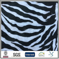 100 polyester knitted zebra skin pattern animal print velour fake fur fabric