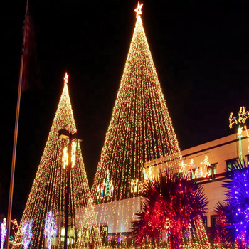 outdoor commercial christmas displays giant flagpole led christmas tree lights sculpture for shopping center decoration