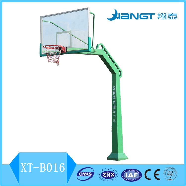 Square steel tube basketball stand for school
