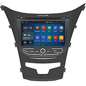 "NaviTopia HD 1024x600 Quad Core 16G 8"" Pure Android 5.1.1Car DVD Player for SSANGYONG KORANDO 2013- GPS Navigation"