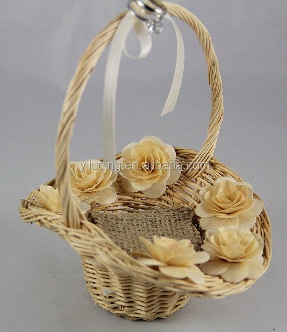 paniers de rangement en osier panier tissage en osier paniers de fleurs avec poign e et. Black Bedroom Furniture Sets. Home Design Ideas