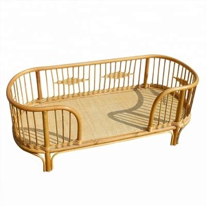 New Design Bedroom Furniture Children Bed Rattan Baby Crib Size Can Be Customized