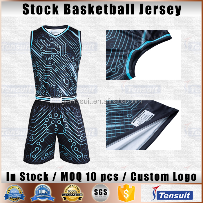 Basketball uniforms wholesale reversible basketball jersey top quality newest design hot sale in stock sports jersey