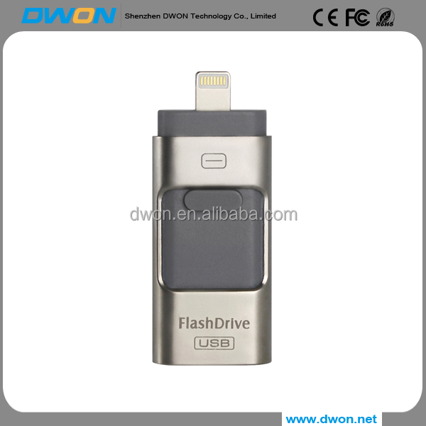 3 in 1 wholesale Factory price usb flash drive USB FlashDrive for 4G 8gb 16g 32G 64G For iphone for android OTG usb flash