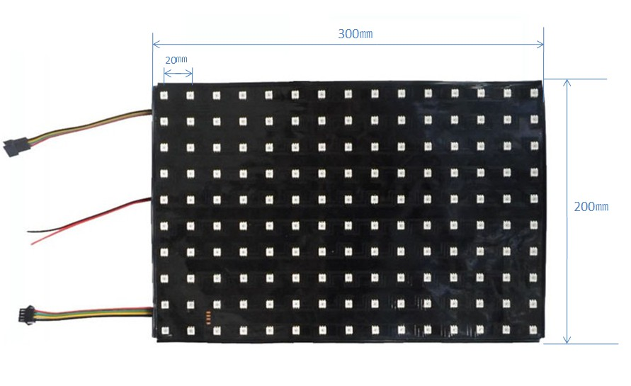 Addressable SK9822 RGB flexible led display screen 150pixels RGB full color for led video screen