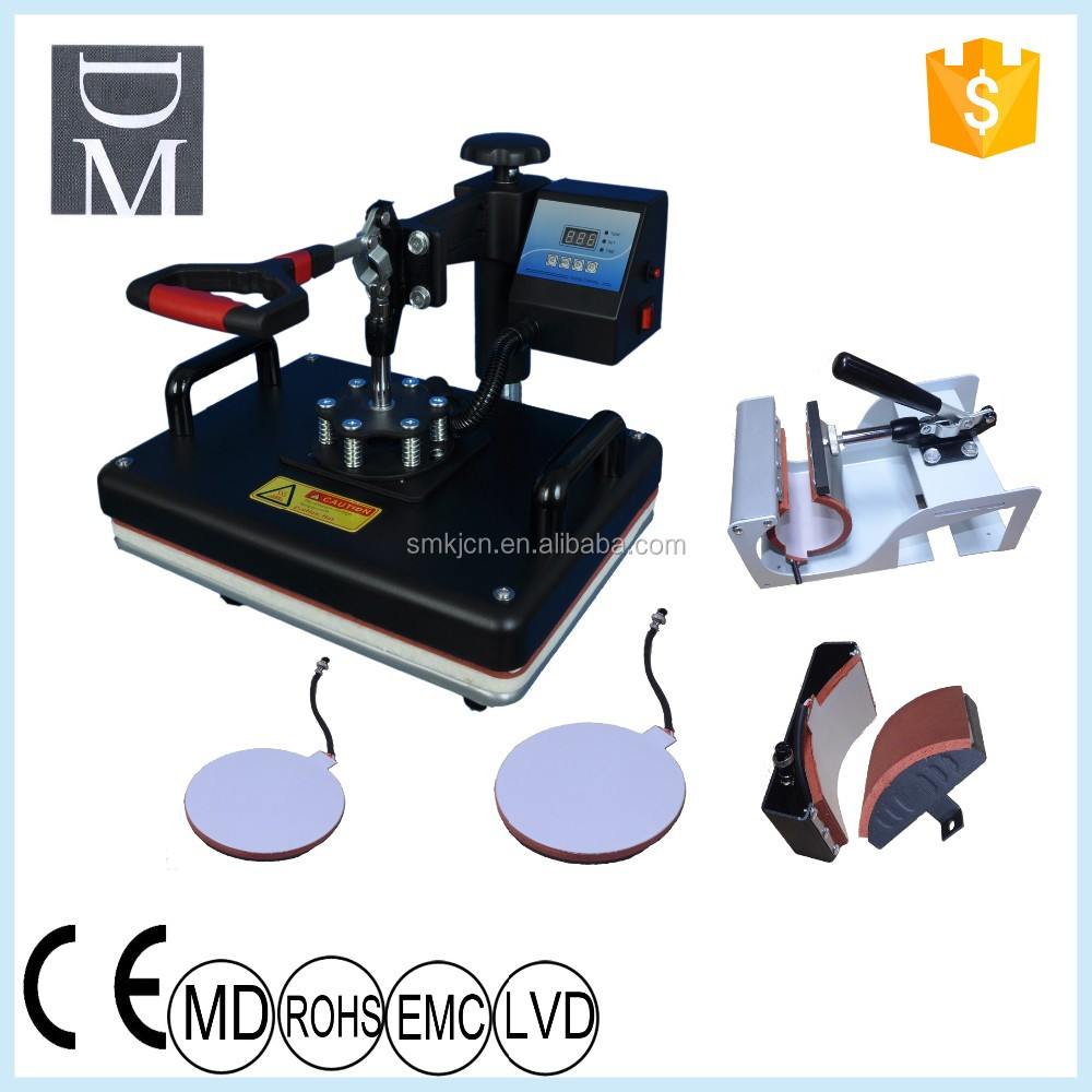 Digital Printer Combo Heatpress Mug,Cap,Plate Sublimation Printing Machine  - Buy 5in1 Heat Transfer Machine High Quality,Combo Heat Press