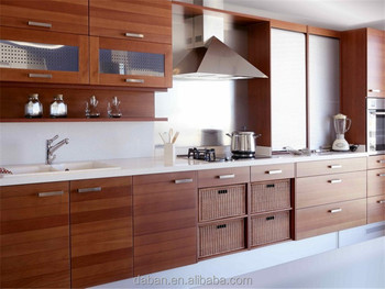Foshan Factory Wholesale Melamine Wood Grain Kitchen Cabinet/kitchen  Cabinets Wholesale