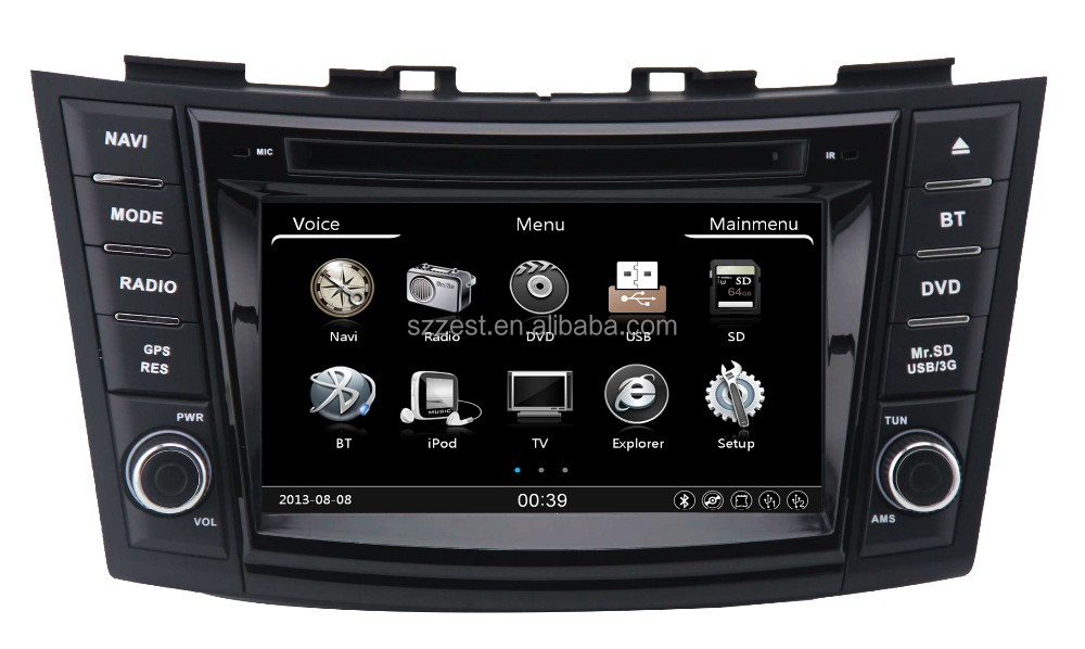 2016 Car multimedia radio navigation dvd with bluetooth stereo cd 3g , for suzuki swift touch screen car stereo%