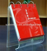 novel clear acrylic desk calendar stand