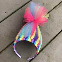 promotion trolls headband cut hair accessories for kids