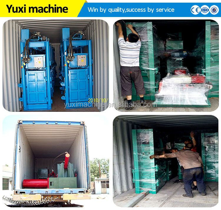 Best Quality Hydraulic Waste Paper Bailing Machine/plastic Bottle Baler Machine/small Garbage Baling Press Machine Price