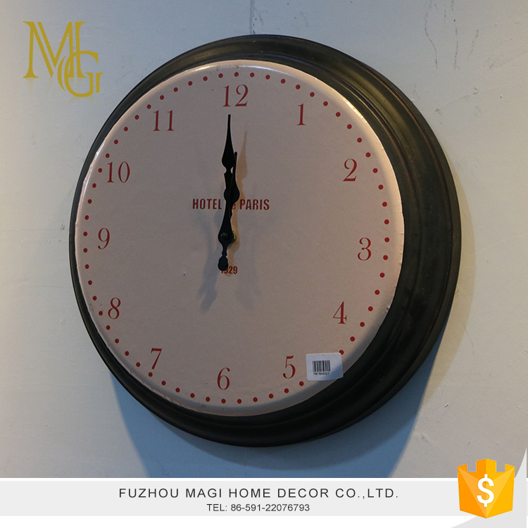 European style wall decoration battery operated arabic numbers wall clock