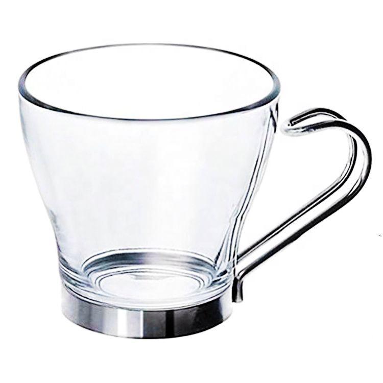 Ml tasse À tasse Tasse Café 100 Personnalisé En Poignée De Buy Verre Verre Métal Avec Personnalisée hrxQBsdCto