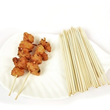 All-natural long Bamboo Wood BBQ Skewers stickes
