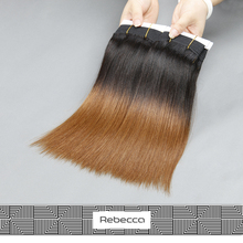 Rebecca Fashion Wholesale Ombre sleek Virgin Weave Human Hair Extension