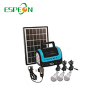 New Product 5W Solar Panel 3Pcs 3W Led 4Ah Battery Solar Energy Lighting System