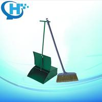 Industrial Metal Long Handled Dustpan and Brush