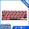 SZZKAIY-0097 Black And Red Custom Wireless Keyboard Silicone keyboard cover for Macbook Air