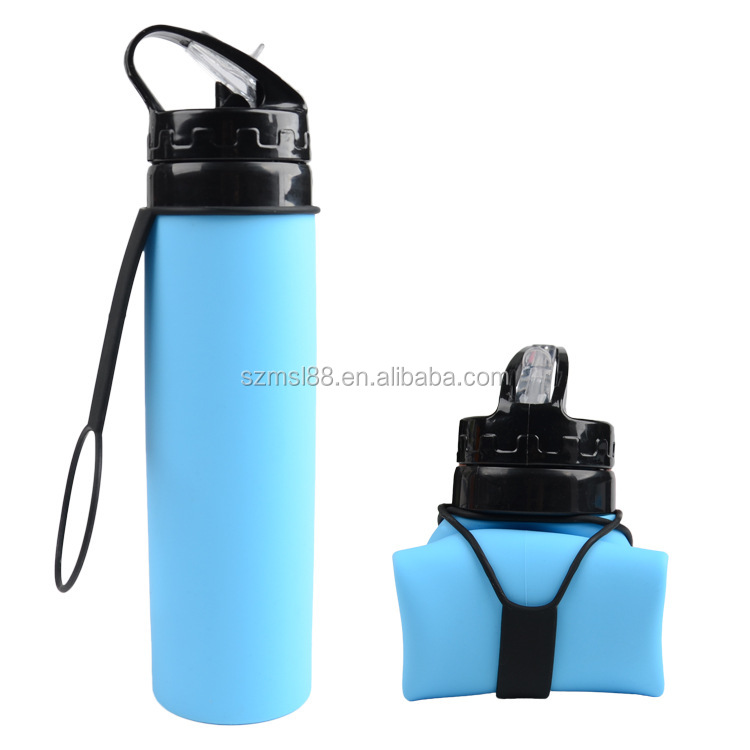 Silicone Outdoor Sports Bottle Silicone Foldable Water Bottle
