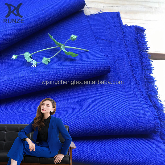 Factory Price 100% Polyester Woven Stretch Micro Twill Weave Gabardine Suiting Fabric