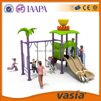 Double slides and swings of outdoor playground for children from VASIA