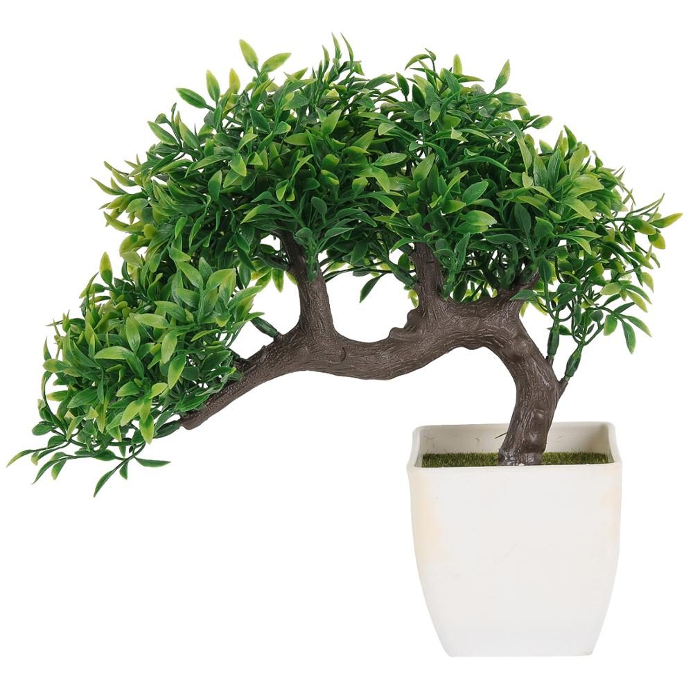 Tropicale di Plastica naturale pianta bonsai per la decorazione ufficio