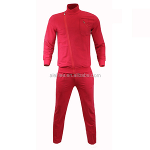 fitness wear wholesale mens plain 100% cotton polyester sweatshirt sweat red plaid male pants for casual gym sportswear
