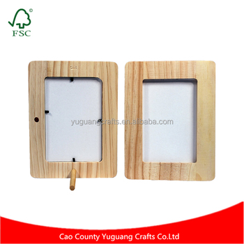 Customized Unfinished Wood Craft Picture Frame Holds 4x6 Inch Photo
