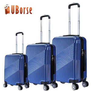 Customize logo ABS PC luggage set 3pcs travel luggage set