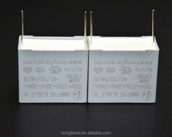 Metallized polypropylene film interference suppression capacitor (class x2,305Vac/350Vac,Temperature Humindity Bias (THB) MKD)