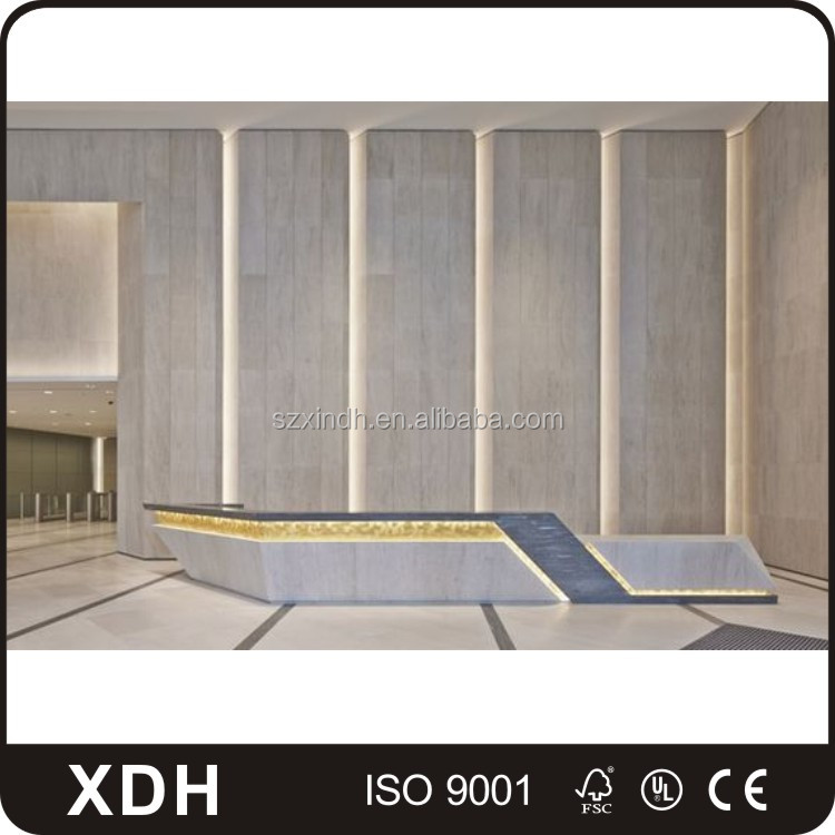 Custom made hotel marble reception counter design salon front desk