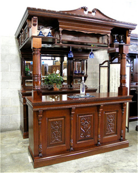 Replica Victorian Carved Style Wooden Bar Furniture, Pub Bar Tavern, Home  Bar Cabinet With