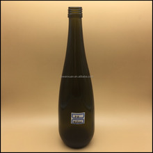 New design bottle of red wine dark green glass wine bottle 500ml with high quality