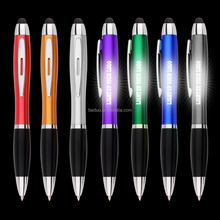 2017 led light pen new design lighting up laser logo pen