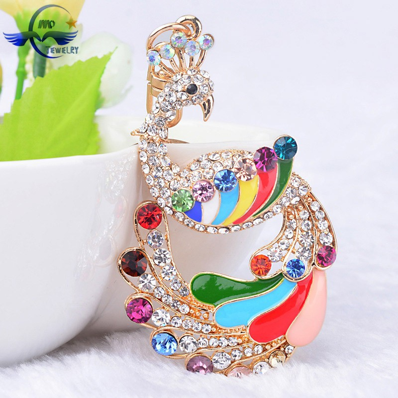 Top Quality Keychain Manufacturers In China Peacock Crystal Car ...