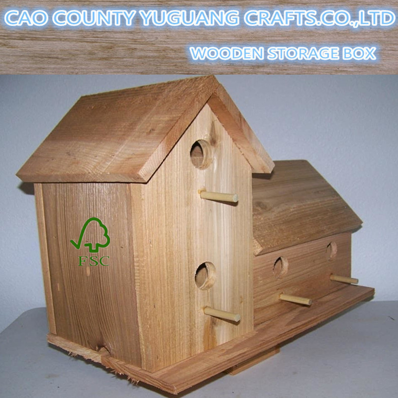 Handcrafted brand new wood Mounted Birdhouse