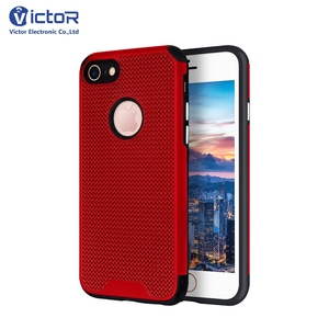 Fashion Mesh Style Back Cover For iPhone 8 Carcasa De Celulares