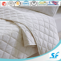 Summer thin cotton padding quilt with binding/diamond box style quilt