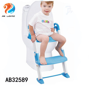 Height adjustable baby children potty training toilet seat baby kids potty with ladder step